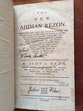 RARE 1791 Ahiman Rezon, Masonic Grand Lodge Virginia, Richmond, Charleston Mason