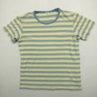 Uniqlo Mens Size XL Multicolor Striped T-Shirt Short Sleeve Round Neck Cotton