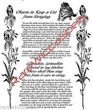 Keep a Cat from Straying Running Away Wicca Book of Shadows Pagan Occult Spell