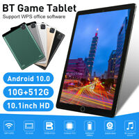 "2021 10.1"" Android 10.0 WIFI Tablet 10G+512G 10 Core PC Google GPS + Dual Camera"