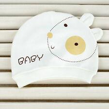 Newborn Girl Boy Cartoon Bear Warm Beanie Hat Toddler Baby Soft Cap 0~3 Month