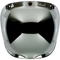 BILTWELL BULLE BUBBLE casque 3 pressions miroir  chromé Visière bombée antibuée