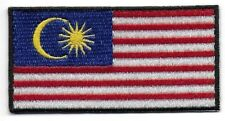 "Embroidered Malaysia 3"" Flag Iron on Sew on Patch Badge HIGH QUALITY"