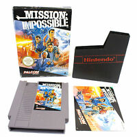 Mission Impossible for Nintendo, NES by Konami, 1990, CIB, VGC, PAL