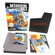 Mission Impossible for Nintendo, NES by Konami, 1990, CIB, VGC, PAL