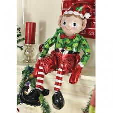 GIANT ELF SITTING FOIL CHRISTMAS PARTY BALLOON AIRFILL NO HELIUM