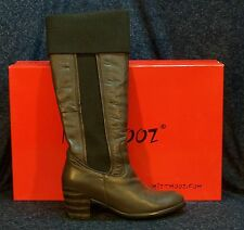 Miz Mooz Women's Size 10 Dark Brown Tall Leather Boot Mercurial