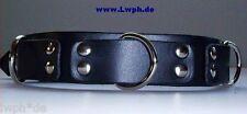 Forte Pelle Braccialetto Blu con 3 piuttosto Anelli a D 3,0 cm di larghezza da