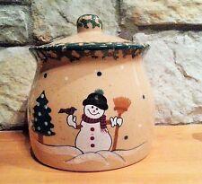 Snowman Cookie Jar LTD Commodities Spongeware Winter