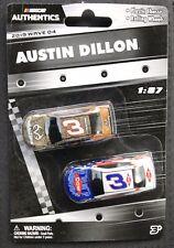 2019 NASCAR Authentics Wave 04 Austin Dillon #3 Camaro Twin Pack 1:87