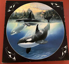 FX Schmid 500 Piece Round Puzzle Orca Cove Artist Sherry Vintson 1997