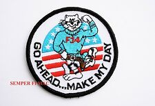 F-14 TOMCAT GO AHEAD MAKE MY DAY COLLECTOR PATCH US NAVY USS EASTWOOD BABY NAVY