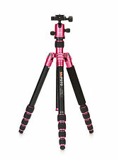 New!!! MeFOTO RoadTrip A1350Q1H Travel Tripod Kits - Hot Pink -17.6lbs Max Load