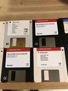 Collection Lot Apple Macintosh vintage disquettes 3.5
