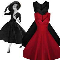 Vintage Retro Rockabilly Swing 50S 60s Housewife Cocktail Evening Dress UK 8-20