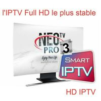 """Neo  pro 3 official code 12 months (smart tv, android, m3""""u) i'pt'v envoi rapide"""