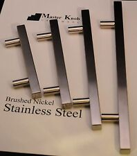 "20 pcs Modern Brush Nickel Stainless Steel 6"" Kitchen Cabinet Handle Knobs 602"