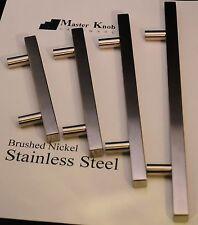 "20 pcs Modern Brush Nickel Stainless Steel 5"" Kitchen Cabinet Handle Knobs 602"