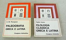 Inama,FILOLOGIA CLASSICA GRECA E LATINA/Thompson,PALEOGRAFIA,Hoepli/Cisalpino