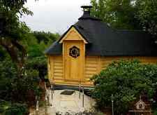 9.2m BBQ Hut with extension / Grill Cabin / Summer House / Garden Office, Shed
