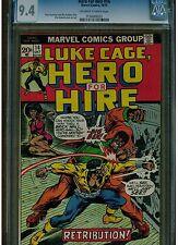 HERO FOR HIRE  #14 CGC 9.4 NEAR MINT LUKE CAGE BILLY GRAHAMS BIG BEN OWTW  1973