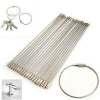 Stainless Steel EDC Aircraft Cable Wire Key Chain Ring Twist Screw Lock