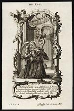 santino incisione 1700 S.GIOVANNI DI DIO   klauber