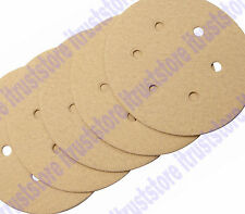 """5PC 6"""" ROUND HOOK AND LOOP BACKING SANDER SANDING PAD DISC 6 HOLE 80 GRIT COARSE"""