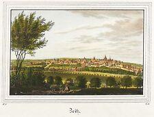 Zeitz-vista general-Saxonia-kolorierter acero clave 1836