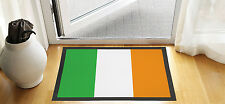 "24"" X 16 "" IRISH FLAG IRELAND DESIGN ENTRANCE DOOR MAT NON SLIP ADVERTISING TOOL"
