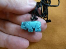 an-ele-20) Elephant Blue Howlite simple carving Pendant necklace gemstone Fetish