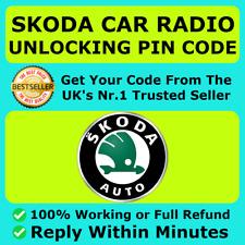 SKODA UNLOCK RADIO PIN CODE BOLERO FABIA SWING SYMPHONY OCTAVIA SUPERB ✅