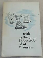 1943 General Foods Greatest of Ease Household Cleaning Stain Hints Book Booklet