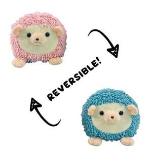 double-sided flip reversible Hedgehog plush toy Pink/blue