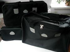 Reisetaschen Set 3-tlg. schwarz, stabil, leicht, aus Segeltuch - NEU & OVP