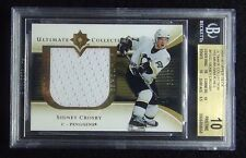 2005-06 SIDNEY CROSBY ULTIMATE PREMIUM SWATCHES #68/75 BGS 10 PRISTINE POP 1