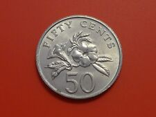 Singapore 50 Cents, 1987, Yellow Allamanda plant