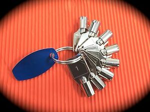 Tubular Lock Depth & Space Key Set-Suits Chicago, Fort, Ace, Gem  -Depths 1-8