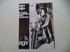 advertising Pubblicità 1973 CASCO HELMET AGV AGO e GIACOMO AGOSTINI