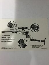 MEGATRON Transformers G1 Assembly Sheet Ex/Mint Shape Vintage 1984 Hasbro