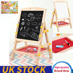 Double-sided Children Drawing Board Standing Kid Painting Board Eraser Chalk Toy