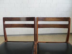 2 Stühle von Rosengren Hansen Dänemark Danish Chairs Rosewood/ Palisander No. 2