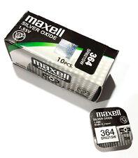 10 pilas boton Maxell 364 Sr621sw AG1 0 mercurio V364 1 55 Volt Battery bateria