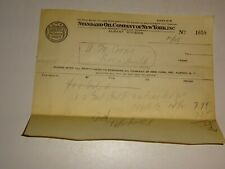 original 1930'sStandard Oil  Co. of New York SOCONY Invoice Receipt 1658 Gas