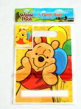 WINNIE THE POOH  & PALS  8- PLASTIC LOOT BAGS  -PARTY SUPPLIES