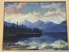 Charles F. Barker Original Mountain Lake- Scape  Oil Painting Signed And Dated