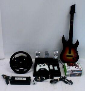 Bundle of Games & Accessories Xbox 360 Guitar Hero Controller Thrustmaster - E22