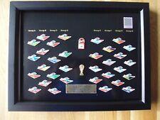 1 COCA COLA WORLD CUP 1998 FRANKREICH  PIN SET IM RAHMEN