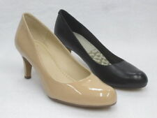 Clarks Patternless Patent Leather Court Heels for Women