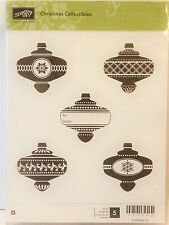 Stampin Up CHRISTMAS COLLECTIBLES wood mount stamps Ornaments